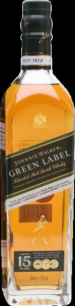 Johnnie Walker Green Label 15 Y.O. Blended Scotch Whisky 0,7l