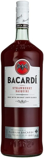 Bacardi Daiquiri Strawberry Rum Premix-Flasche 20% 1,5l