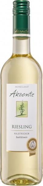 Moselland-Akzente Riesling QbA halbtrocken 0,75 L