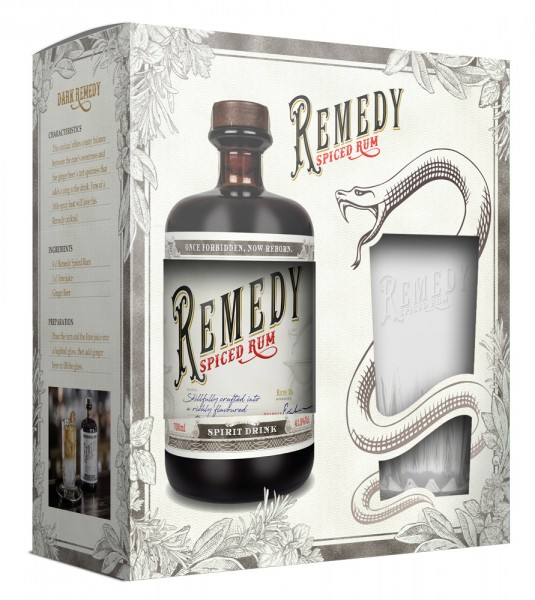 Remedy Spiced Rum + Highball Glas