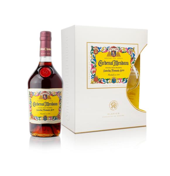 Cardenal Mendoza Clásico Solera Gran Reserva Brandy de Jerez 0,7l 40% in Geschenkbox mit Glas