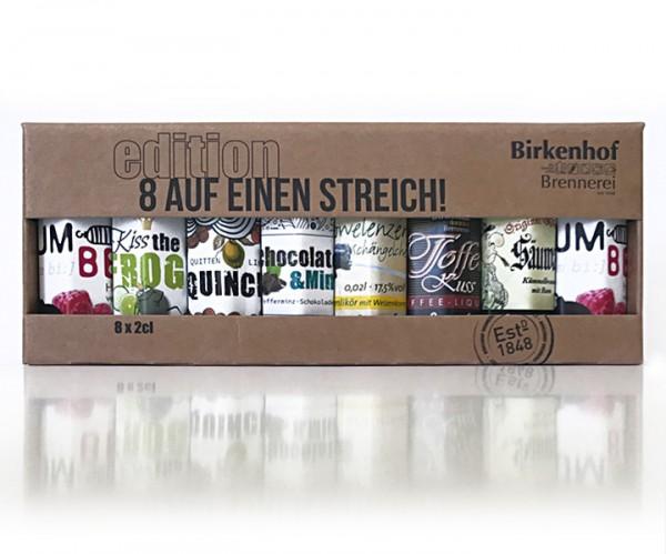 """Birkenhof Tasting-Set Edition: """"8 auf einen Streich"""" - Trendige Liköre"""