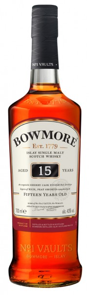 Bowmore 15 Years Old 43% 0,7l