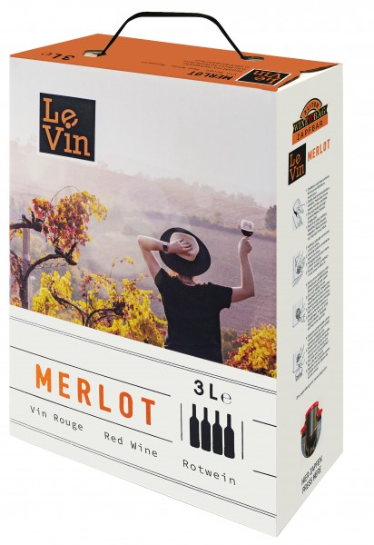 Le Vin Merlot trocken 3,0l Bag-in-Box