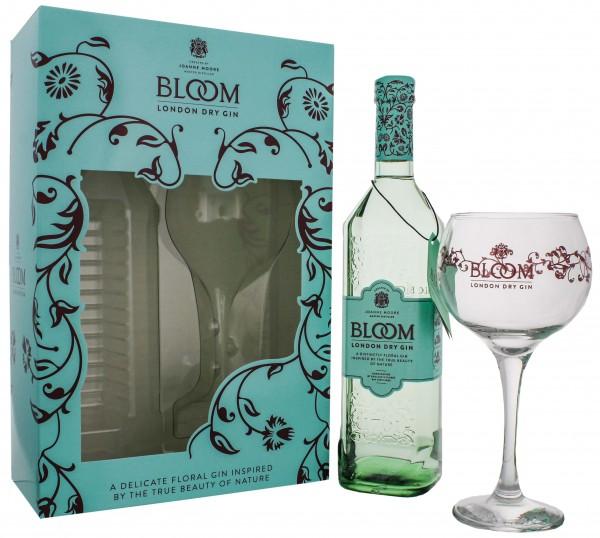 Bloom London Dry Gin 0,7L + Glas als Geschenkverpackung