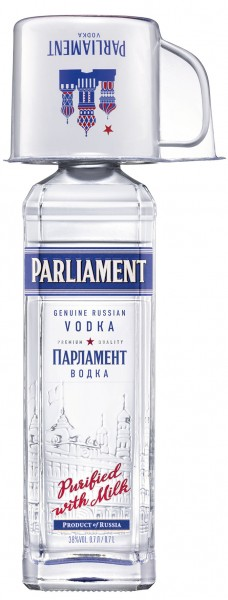 Parliament Vodka 38% vol. Onpack mit Mulebecher