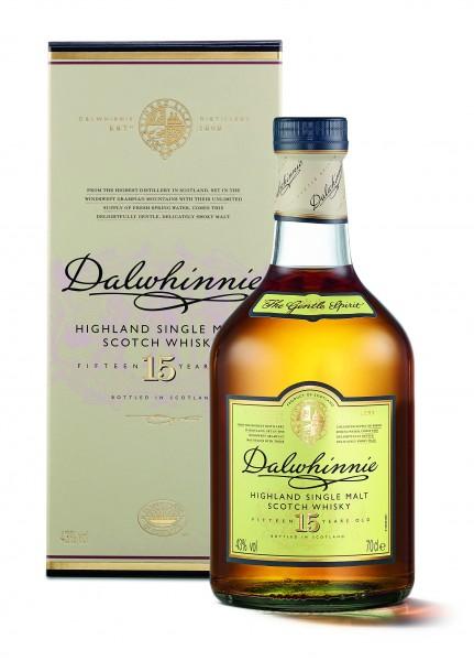 Dalwhinnie 15 Years Old Highland Single Malt Scotch Whisky 0,7l 43% mit Geschenkpackung