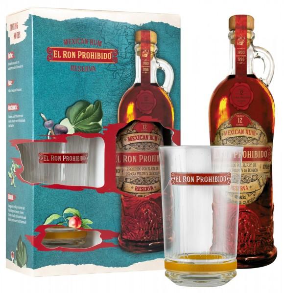 Prohibido Rum Solera 12 + Glas in Geschenkverpackung