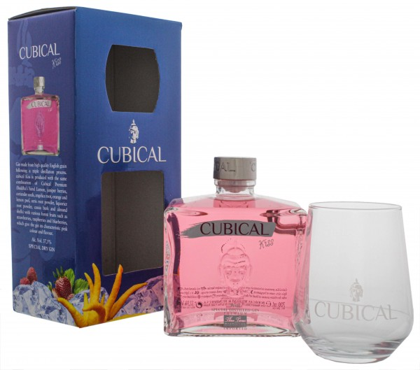 Cubical Premium Special Distilled Gin Kiss 0,7L + Glas