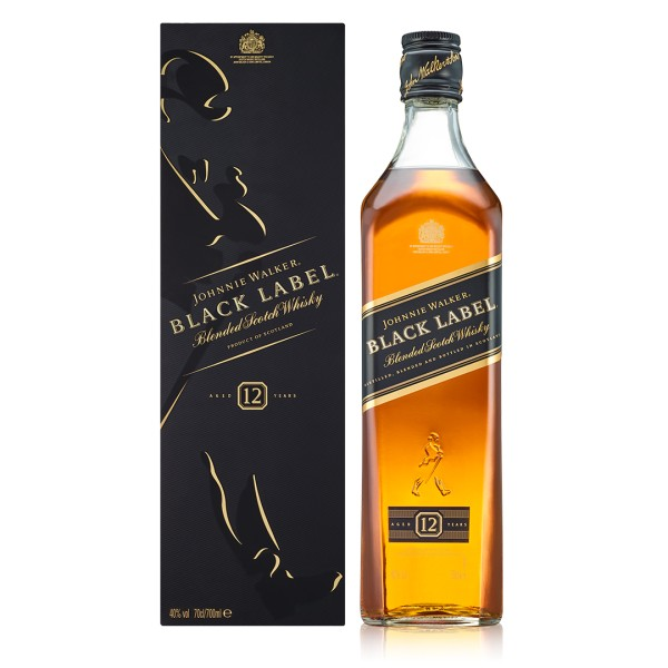 Johnnie Walker Black Label 12 Years Old Blended Scotch Whisky 0,7l 40%