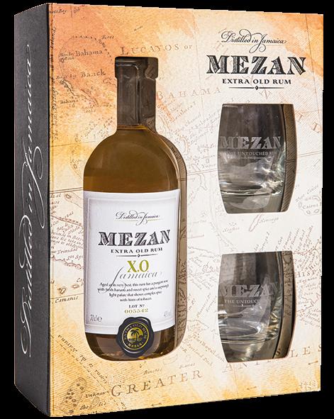 Mezan X.O. mit 2 Gläsern als Geschenkpackung