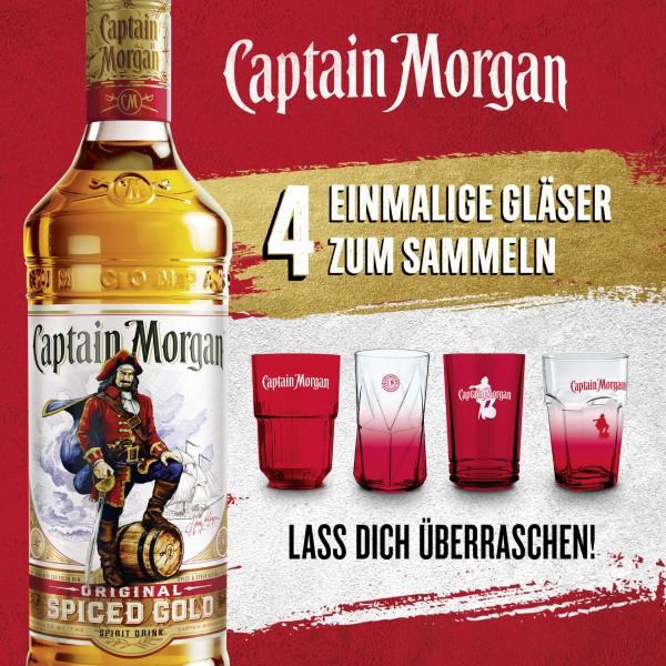 Captain Morgan Spiced Rum mit Überraschungsglas