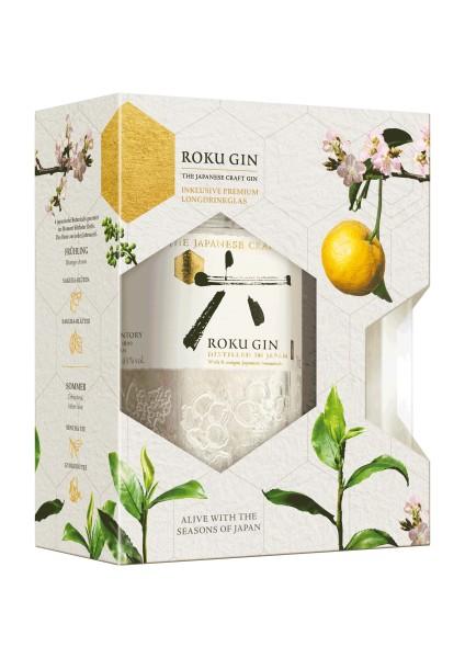 Roku Japanese Gin 43% vol. Geschenkset mit Glas