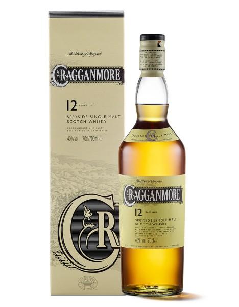 Cragganmore 12 Jahre Speyside Single Malt Scotch Whisky 0,7l 40% mit Geschenkpackung