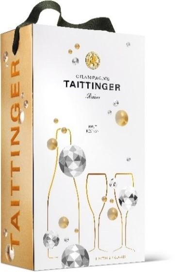 Taittinger Brut Reserve Diamonds in GP + 2 Gläser