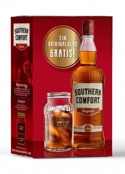 Southern Comfort mit Glas als Geschenkset