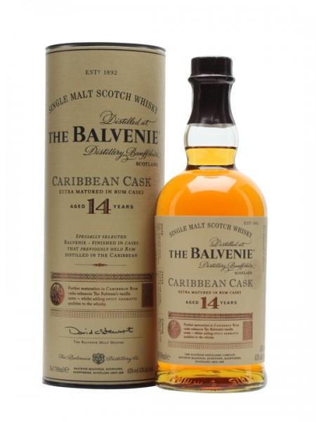 Balvenie 14 years Caribbean Cask Speyside Malt Whisky 43% 0,7l