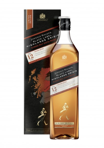 Johnnie Walker Black Label 12 Years Blended Scotch Whisky 0,7l - Highland Origin Limited Edition