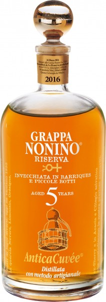 Nonino Grappa Riserva Antica Cuvée 5 Years Old