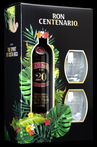 Centenario 20 40% mit 2 Gläsern
