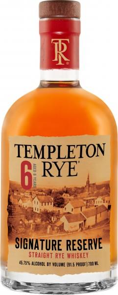 Templeton Rye Whiskey 6 Years Old 0,7l 45,75%