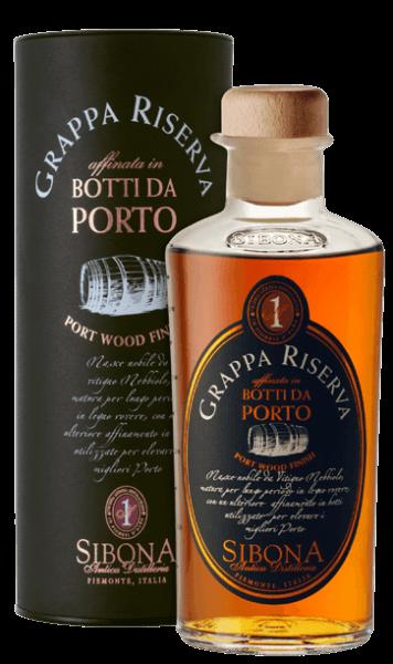Sibona Grappa Riserva Botti da Porto 0,5l 40%