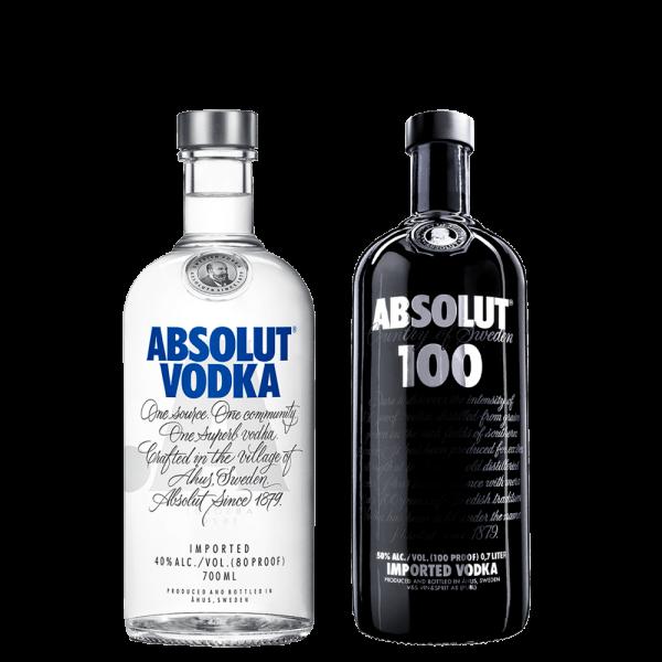 Absolut Vodka Black and White - Set
