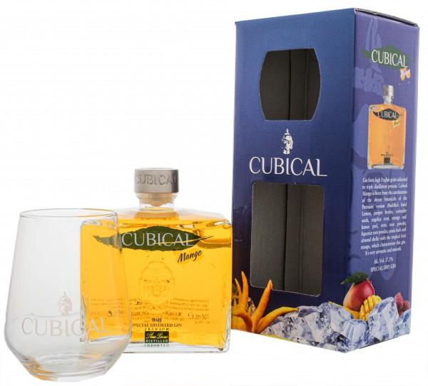 Cubical Premium Special Distilled Gin Mango 0,7L + Glas