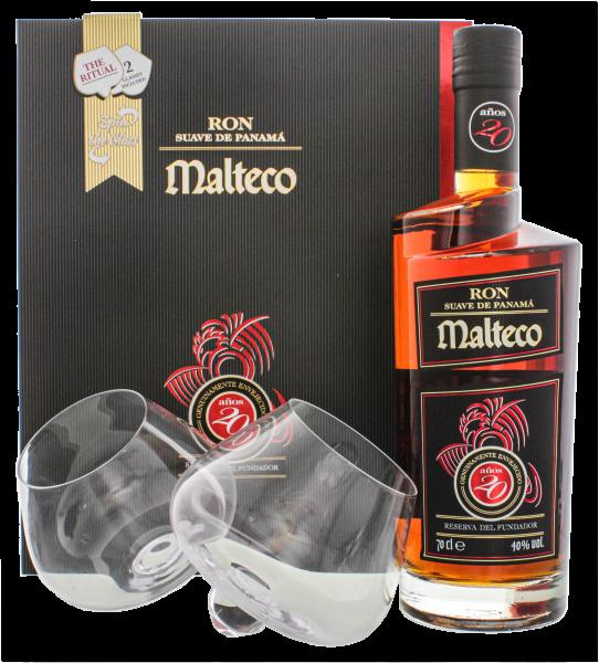 Malteco 20YO 0,7L + 2 Gläser