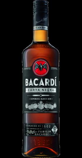Bacardi Carta Negra Rum 37,5% 0,7l