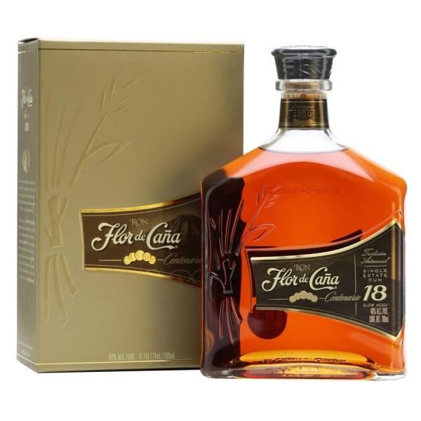 Flor de Caña · Rum Centenario Gold 18 years old 40% vol