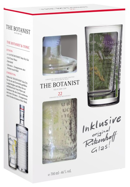 The Botanist 46% vol. mit Longdrinkglas