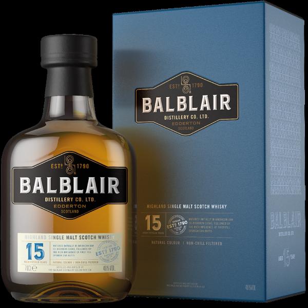 Balblair · 15 Years Old · Single Malt Scotch Whisky 46% vol · in GP (NEU)