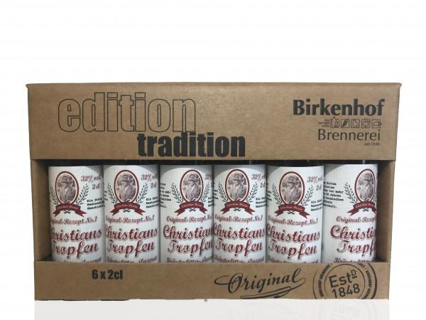 """Birkenhof Tasting-Set Edition: """"Christians Tropfen"""" - Kräuterspirituose für Unterwegs"""