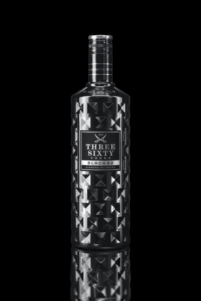 Three Sixty Vodka Black 0,7l