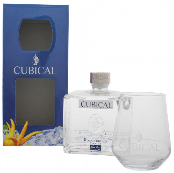 Cubical Premium London Dry Gin 0,7L + Glas