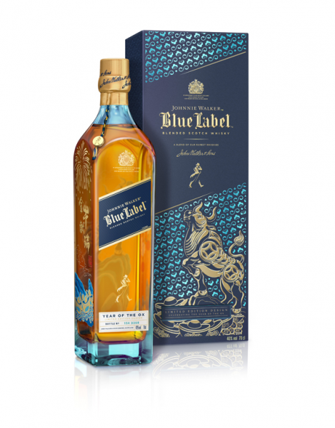 Johnnie Walker Blue Label Blended Scotch Whisky 0,7l -Year of the Ox 2021- Limited-Edition