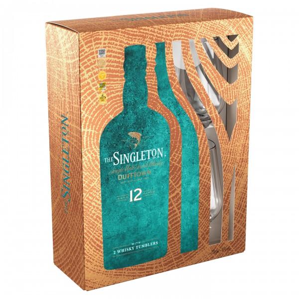 The Singleton 12 Years mit 2 Gläsern Geschenkbox