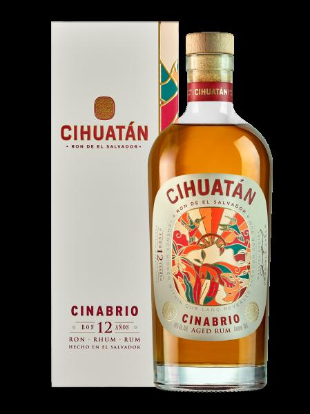Cihuatán Cinabrio Rum 12 Jahre mit Geschenkverpackung