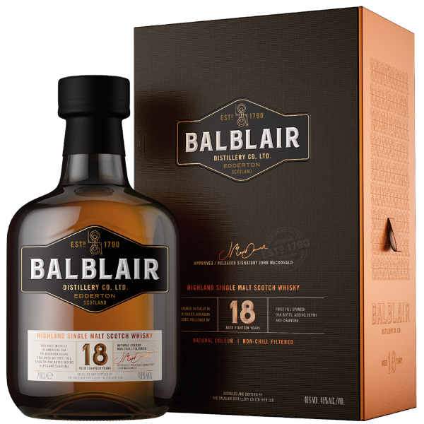 Balblair · 18 Years Old · Single Malt Scotch Whisky 46% vol · in GP (NEU) - streng limitiert -