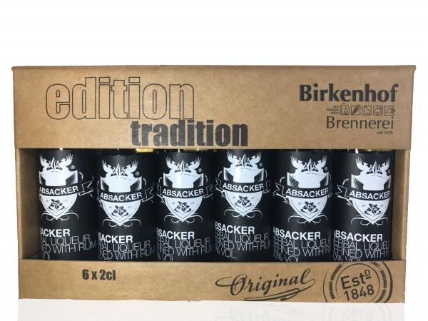 "Birkenhof Tasting-Set Edition: ""Absacker"" - Kräuterlikör verfeinert mit Rum"