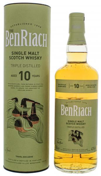 BenRiach 10 Jahre Triple Distilled Single Malt Whisky 0,7l 43% [Streng Limitiert]