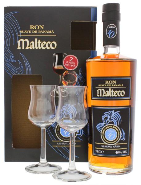 Malteco 10YO 0,7L + 2 Gläser