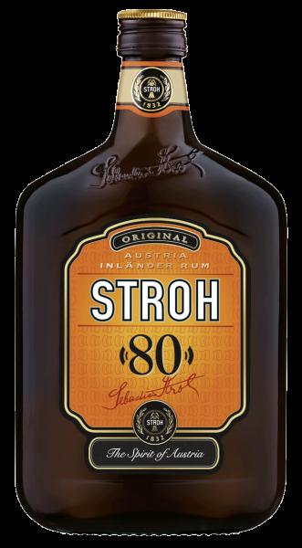 """Original Stroh """"80"""" Inländer Rum 0,5l"""