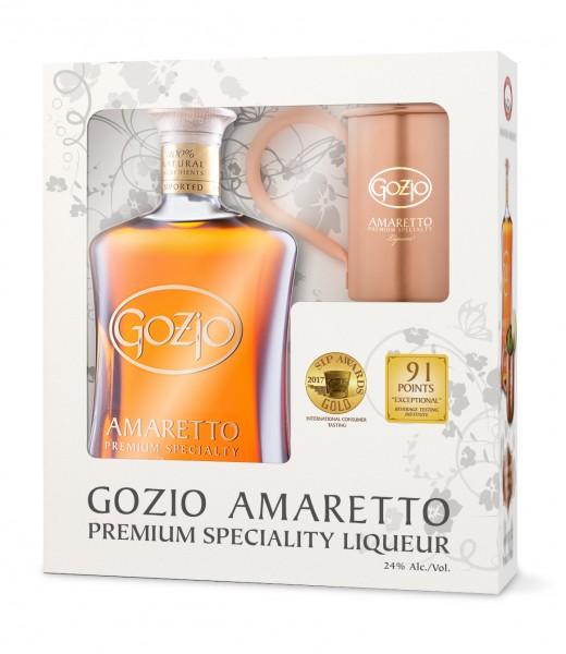 Gozio Geschenkpackung Amaretto 24% vol. 700ml mit Becher