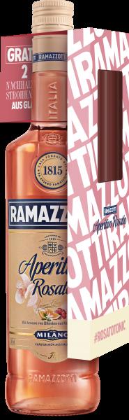 Ramazzotti Aperitivo Rosato 0,7l mit Glasstrohhalm