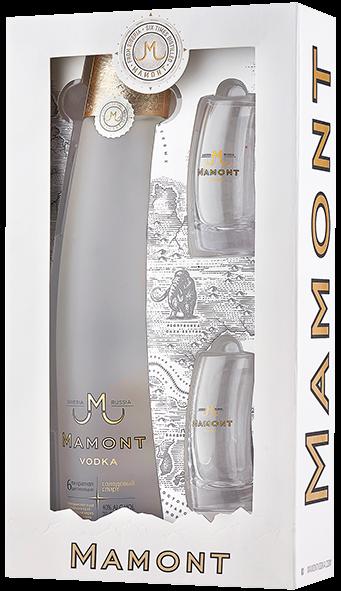 Mamont Vodka 0,7l 40% in GP mit 2 Gläsern