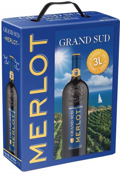 Grand Sud Merlot Bag In Box 3l