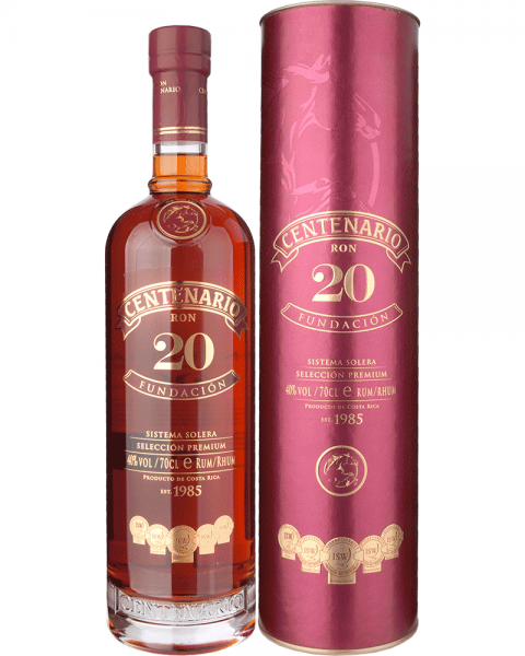 Centenario Rum 20 Fundación 40% - 700 ml
