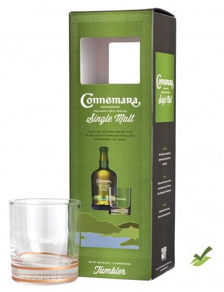 Connemara Peated Single Malt 0,7l 40% Geschenkset mit Glas